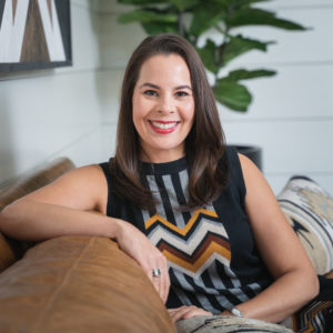 Lifestyle Headshot of Dawn Levy, Realtor in modern home