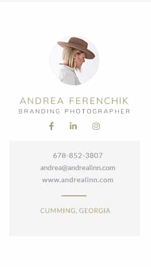 Andrea Linn Photography email signature